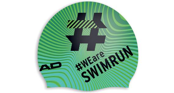Head Hashtag Silcone Suede - Gorros de natación - negro/Turquesa